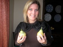 Check out these nice pears!