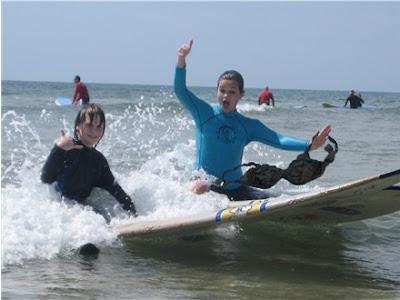 Olga the Traveling Bra goes surfing