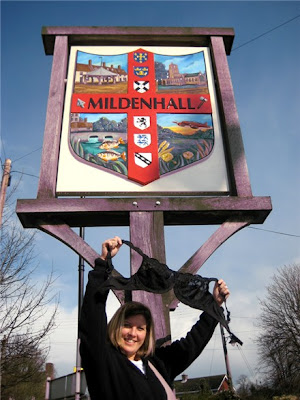 Olga, the Traveling Bra at Mildenhall