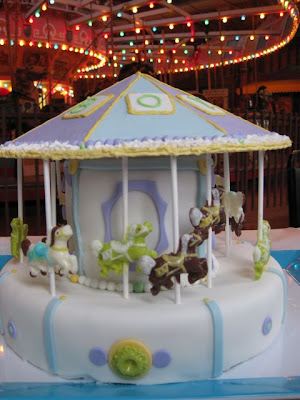 ... shower and the idea to make a carousel cake. My first cake ever in