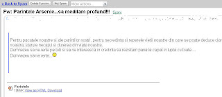 spam religios ortodoxism de cacat