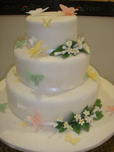 Butterflies wedding cake