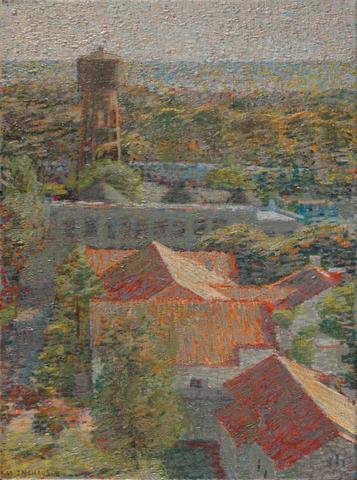 Paisaje, Óleo s/tela, 35 x 45