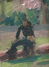 Paisaje, Óleo s/ cartón, 0,7 x 0,9