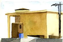 Techos II, Acuarela s/ papel, 10 x 15