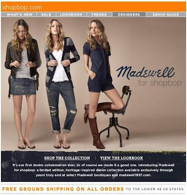 16d94492a7a91 J.Crew Aficionada  Madewell Email  Introducing Madewell for shopbop ...