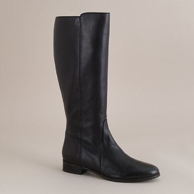 black flat knee high boots size 11