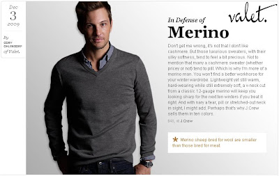 06d0a84e17e to J.Crew Guy In Canada who shared a post over at Valet (click here) that  briefly discusses Merino sweaters and even features one of J.Crew s Men  sweaters– ...