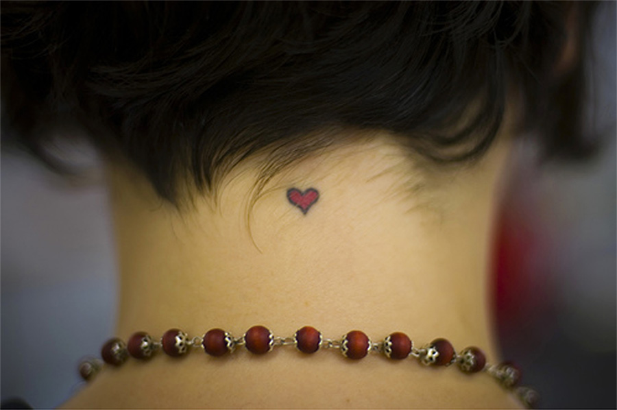 Cute Little Heart Tattoo Life Is Sweet--tattoo font by ~poison--ivy on