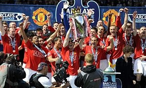 Manchester United wins English Premier League