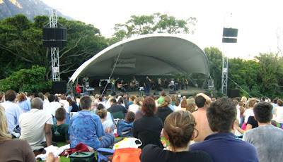 Kirstenbosch Summer Sunset Concerts - stage