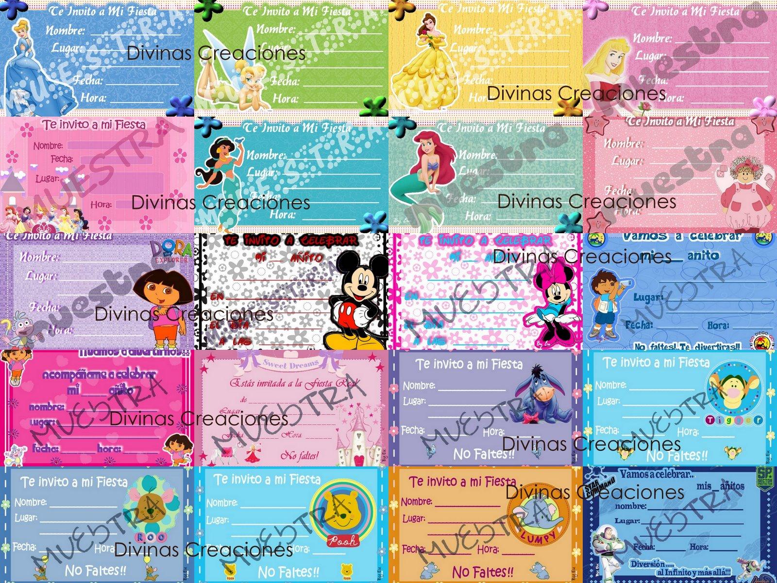 Invitaciones para Fiestas Infantiles -*