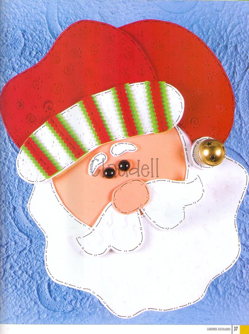 navidad en foami moldes