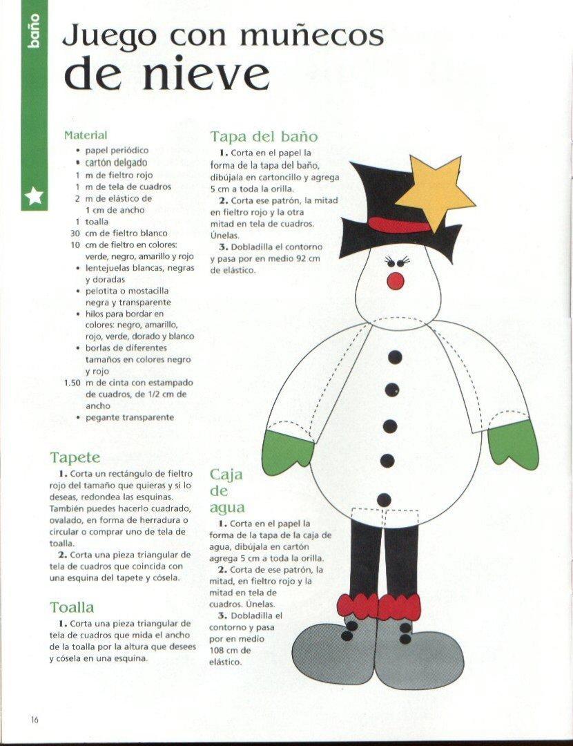 Juegos De Baño Muneco De Nieve:Moldes para Todo: ** Juego con muñecos de nieve **