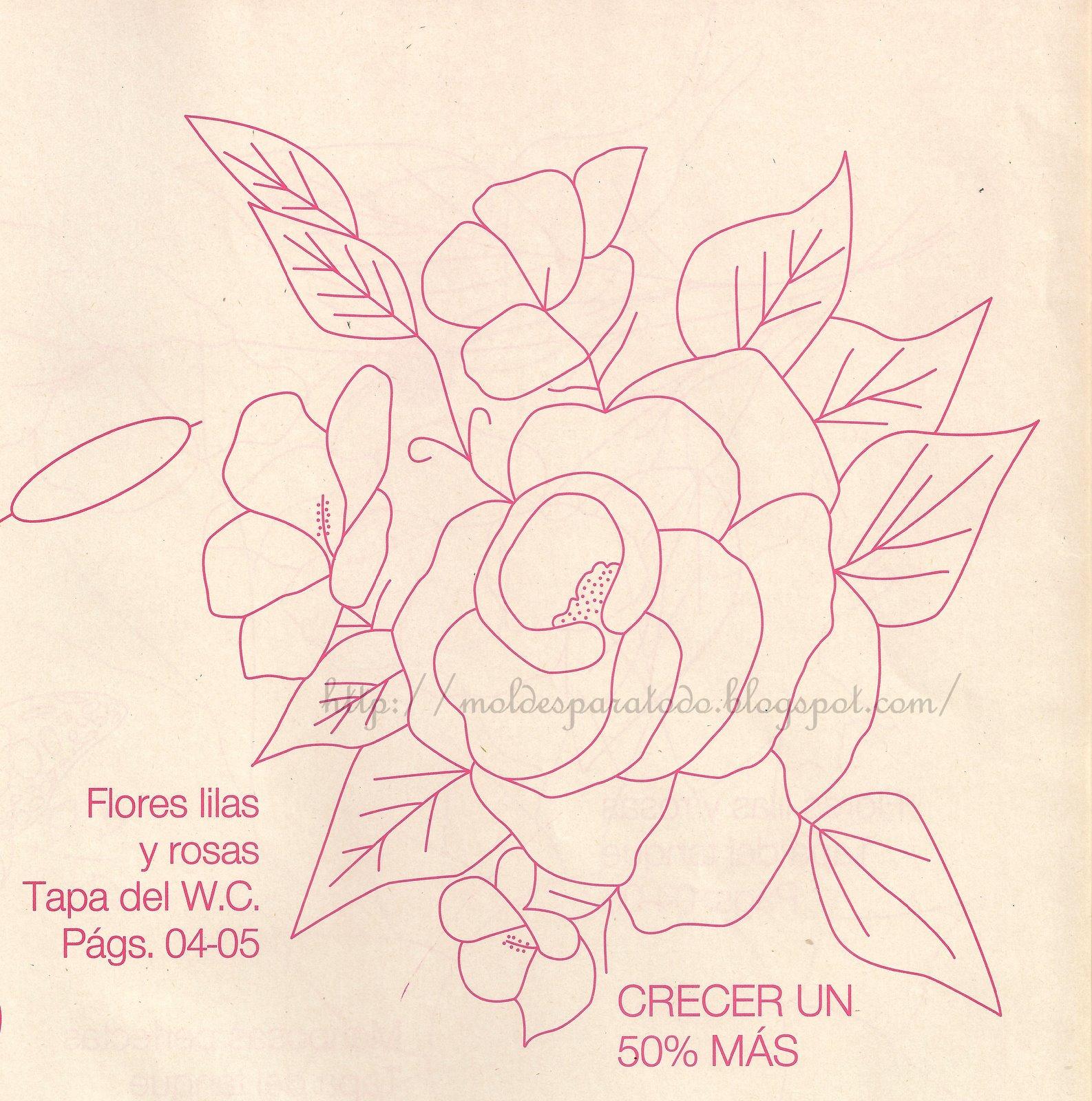 Moldes De        Flores         Juegos De Ba  O         Tela