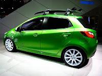 2011 New sporty Mazda2 (base price $13,980) side view