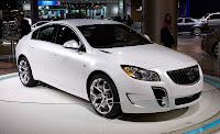 2011 Buick Regal luxury sedans (base price $26,245) front side view