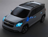 2011 Chevy Orlando the latest things top view