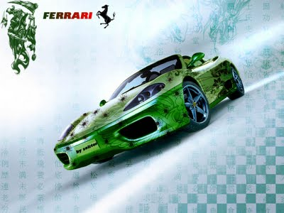 Ferrari wallpaper green grafiti