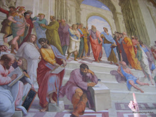 detail on wall murual Vatican museum