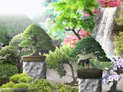 bonsai fantasy garden wallpaper 2