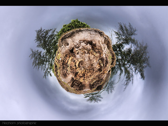 Small world planet-like landscapes picture