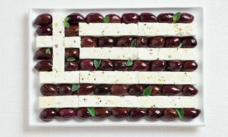National flags from popular foods picture