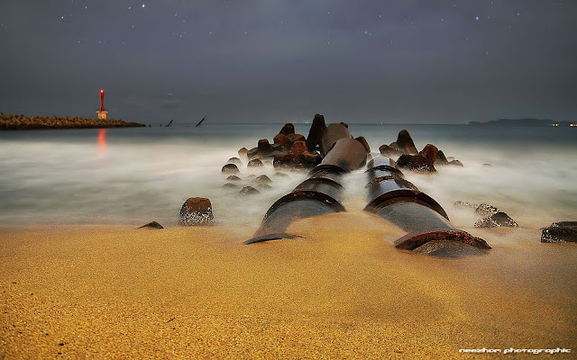 Night shot di pantai Chendering