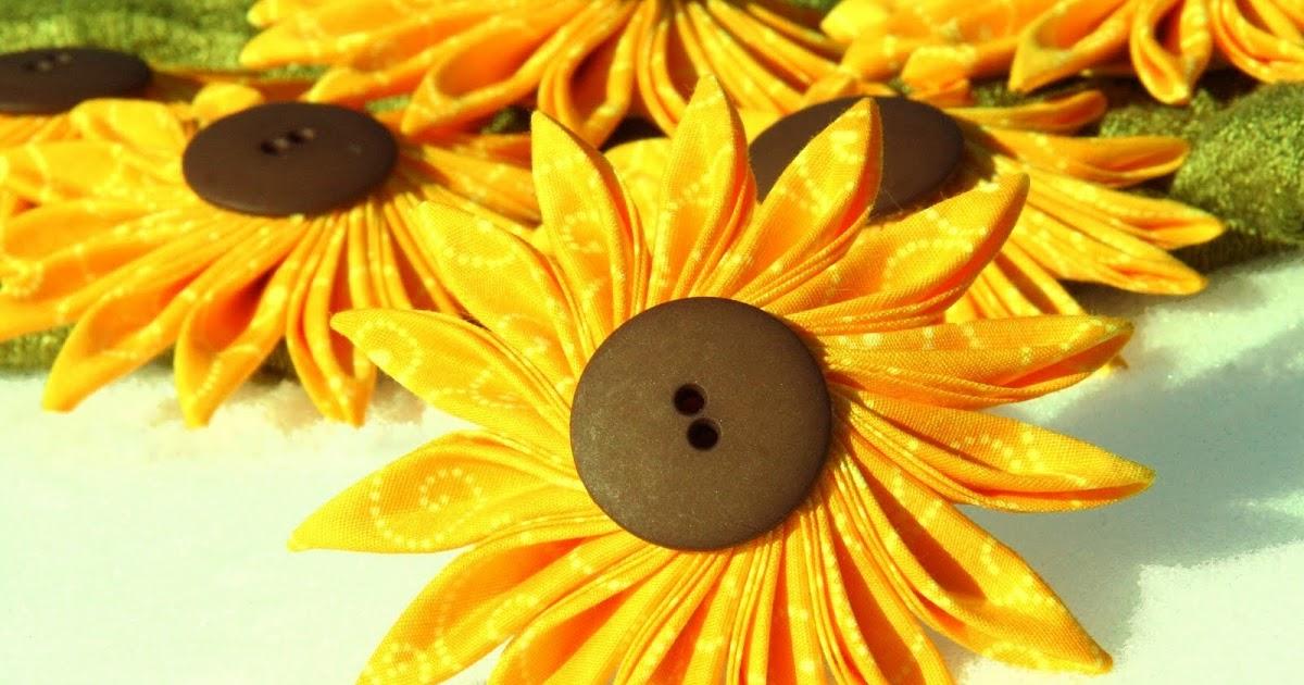 Made by Eva: Tsumami kanzashi sunflowers