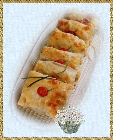Recetas comidas light: Paquetes crocantes de vegetales y