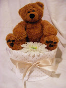 One Tier Neutral Nappy Cake £15