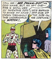 batman, robin and mr polka dot... i dunno why, it was dot related okay