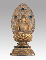 the golden journey - amida nyorai (amitabha buddha) circa 1650