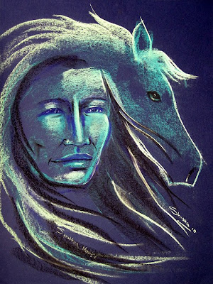 my spirit guide, spotted horse