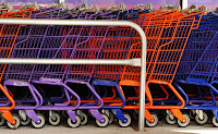 coloured trolleys