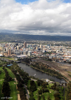 the city of adelaide from above