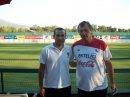 Junto a luis Bonini(P.F.) Seleccion  Chilena 2010