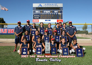 Bonita Valley 14U National Champs
