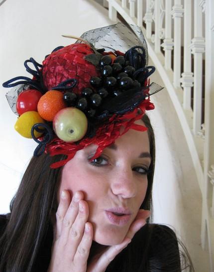 Шляпа фрукты своими руками 73