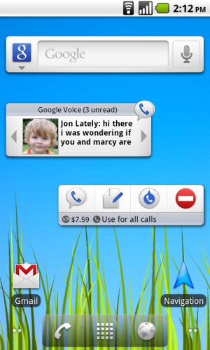 android screenshot Google Voice for Android Adds Easy Access Widgets to Home Screen