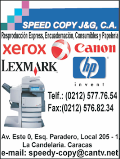 SPEED COPY J & G, C.A. en Paginas Amarillas tu guia Comercial