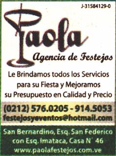 PAOLA AGENCIA DE FESTEJOS en Paginas Amarillas tu guia Comercial