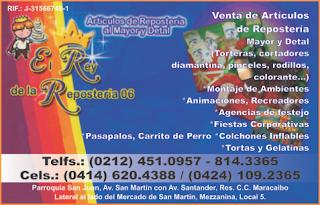 EL REY DE LA REPOSTER�A 06 en Paginas Amarillas tu guia Comercial