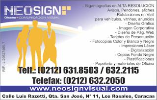 NEOSING DISE�O COMUNICACION VISUAL en Paginas Amarillas tu guia Comercial