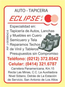 AUTO-TAPICERIA ECLIPSE, C.A. en Paginas Amarillas tu guia Comercial