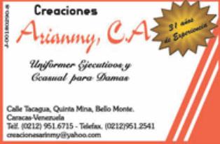CREACIONES ARIANMY, C.A. en Paginas Amarillas tu guia Comercial