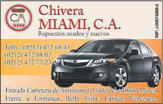 CHIVERA MIAMI, C.A. en Paginas Amarillas tu guia Comercial
