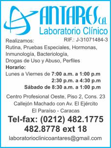 LABORATORIO CLINICO ANTARES, C.A. en Paginas Amarillas tu guia Comercial