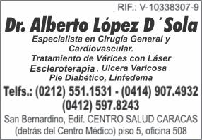 DR. ALBERTO LOPEZ D´SOLA en Paginas Amarillas tu guia Comercial