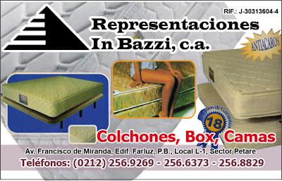 REPRESENTACIONES IN BAZZI, C.A. en Paginas Amarillas tu guia Comercial